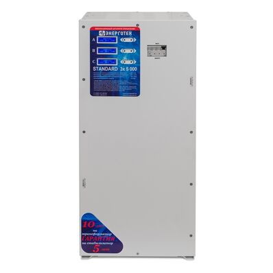 Производители - Стабилизатор напряжения 3 фазы ЭНЕРГОТЕХ STANDARD 5000 х 3